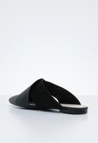 Miss Black - Bokang mules - black