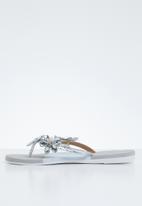 Miss Black - Folle sandal - silver & grey