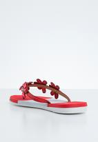Miss Black - Folle sandal - red & white