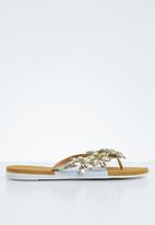 Miss Black - Folle sandal - gold & white