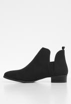 Jada - Slip-on  low heel ankle boots - black