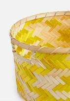 Sixth Floor - Romeo bamboo basket - yellow