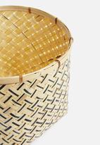 Sixth Floor - Romeo bamboo basket - black
