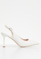 Miss Black - Elba heel - white