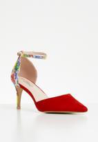 Miss Black - Jolie heel - red