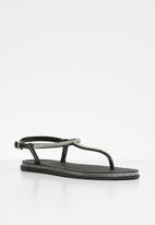 Miss Black - Peria sandal - black