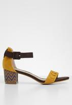 Jada - Ankle strap heels - yellow