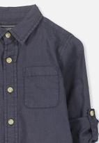 Cotton On - Noah long sleeve shirt - navy