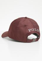 POLO - Ackley contrast peak cap - burgundy