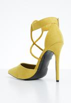 MHNY by Madison - Cardi ankle strap heels - yellow