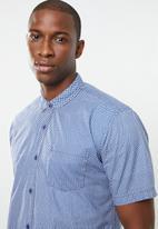 STYLE REPUBLIC - Bubble short sleeve shirt - blue