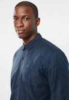 STYLE REPUBLIC - Essential slim fit long sleeve shirt - navy