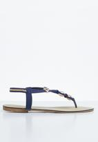 STYLE REPUBLIC - Strappy thong sandals - navy