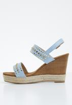 Miss Black - Stud detail wedges - blue
