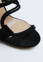 Public Desire - Equate block heeled mule - black