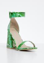 Miss Black - Zera heel - green