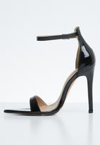 Public Desire - Ace sharp point toe barely there heel - black