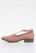 Jada - Fabric combo flat pointed pump - pink