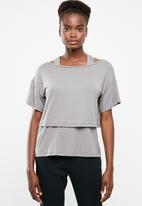 Superbalist - Boxy tee with vest - grey