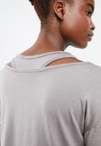 Superbalist - Boxy tee with vest - grey