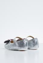 POP CANDY - Bow glitter pump - silver
