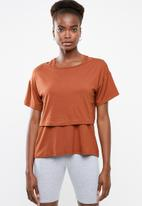 Superbalist - Boxy T with vest - rust