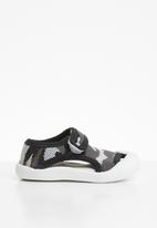 POP CANDY - Camo sandal - grey & black