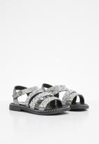 POP CANDY - Glitter embellished sandal - silver
