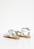 POP CANDY - Buckle detail sandal - white