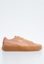 PUMA - Smash platform frill sneakers - coral