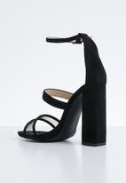Public Desire - Vino square toe barely there heel - black