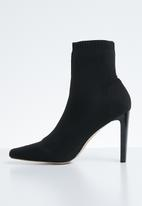 Public Desire - Pioneer stretch square toe ankle boot - black