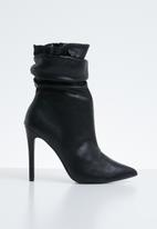 Public Desire - Adorn slouched heeled ankle boot - black