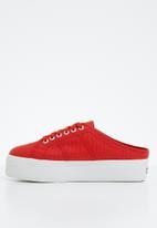 SUPERGA - 2284 Cotw Wedge Push In - red / white