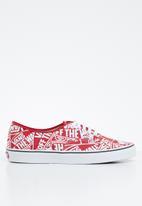 Vans - Authentic - red/true white