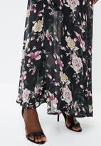 G Couture - Kimono sleeve lined maxi dress - black