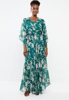 G Couture - Kimono sleeve lined maxi dress - turquoise