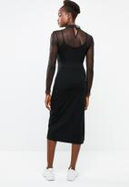Superbalist - Sleeveless twist dress - black