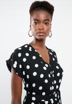 New Look - Maisy spot peggy jumpsuit - black