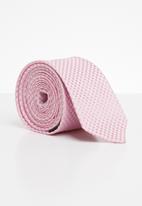 Joy Collectables - Check tie - pink