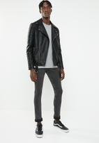 Cheap Monday - Tight fit washed jeans - black