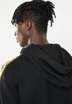 Cheap Monday - Goal logo side taped hoodie - black