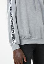 Cheap Monday - Goal logo side taped hoodie - grey