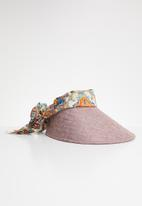 Joy Collectables - Fabric tie visor - pink