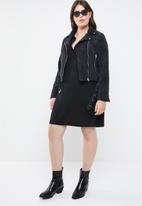 Missguided - Curve cord aviator jacket - black