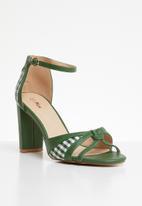 Plum - Check heel - green