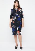 STYLE REPUBLIC PLUS - Smart wrap dress floral - multi