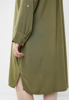 STYLE REPUBLIC PLUS - Military shirt dress - khaki