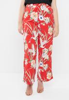 STYLE REPUBLIC PLUS - Piped detail satin pants - multi