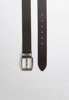 POLO - Swazi casual leather belt - brown